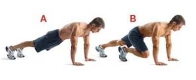 mountain climbers Why 22,000 crunches will NOT give you flat abs