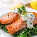 A Tasty Pair: Grilled Salmon and Spinach