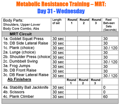 MRT - Ab Finishers for Wednesdays