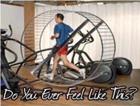 guy running on hamster wheel