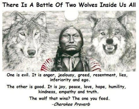 Weight loss motivation evil twin wolves image