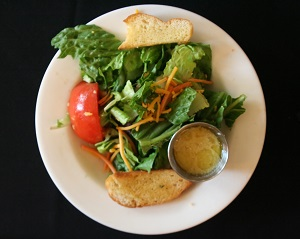 salad with dressing on side