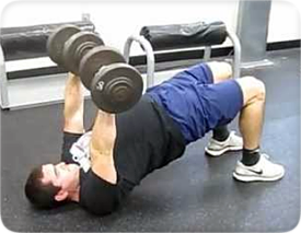 Dumbbell Press with Glute Bridge