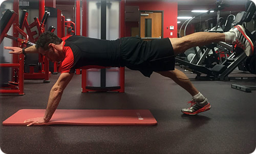 Arm and Leg Raise Plank