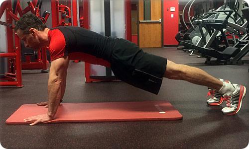 Straight-Arm Plank or High Plank