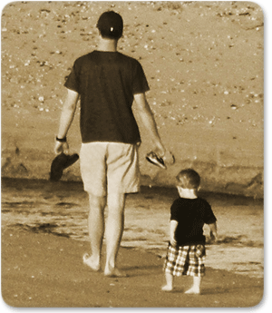 Following in Father's Footprints