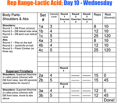 RRLA Workout Log #2