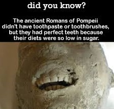 Romans and perfect teeth